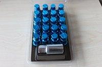 20PCS  RAYS 50MM WHEELS LOCK LUG NUTS 12X1.25 -BLUE