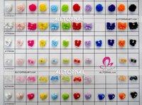 FedEx Free Shipping- 12 Colours Nail Art Decoration 100sets Acrylic Nail Art Bowties 6000pcs Resin Bowknots