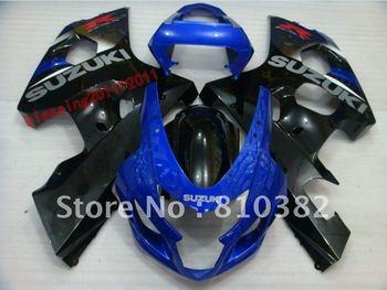 ABS PLASTIC   NEW  fairing kit for SUZUKI  GSXR600/750 04-05BLUE WHITE  GSXR 2004 2005 GSXR600/750 04 05
