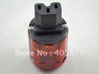 10pieces P046E  Pure Red Copper US Power Plug hifi power cable plug