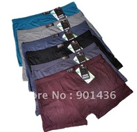 Free shipping/Men's classic boxer /Mamboo fiber boxers/ Men's casual underwear 5XL LARGE SIZE 5pcs/lot wholesale
