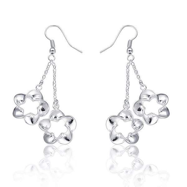 5$ 0ff per 50$ order fashion Hot selling promotion price 925 silver drop earring 10 pairs/lot free Shipping 233(China (Mainland))
