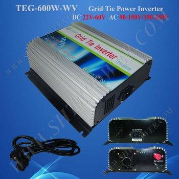 600W 22V-60VDC to 100V/110V/120V/220V/230V/240VAC On Grid Solar Inverter