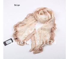 2012 Fashion Bordered Polyester Long Shwal Scarf Scarves Wrap, 180cm*45cm ,5pcs free shipping,LGS1601(China (Mainland))