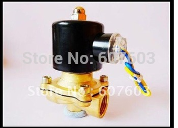 "2015 new 12V DC 1/2"" Electric Solenoid Valve Water Gas Diesel New"