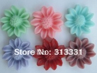 resin sunflower cabochon for children jewelry scrapbooking