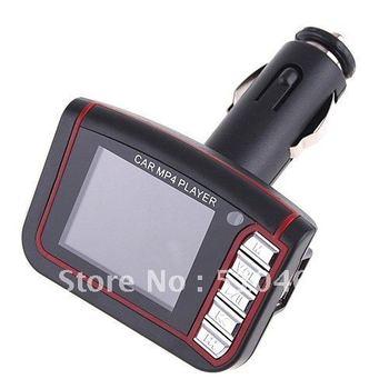 "wholesale! 20pcs/lot LCD Car MP3 MP4 1.8"" Player FM Transmitter SD/MMC free shipping"
