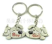 "Hot sale Free shipping Alloy Key chain/King holder/Key ring ""Dogs for boy and girl"" kc159"
