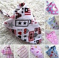 infants toddlers Cotton Bibs babys Wipes Wraps Burps Cloth Scarf Bandage neckerchief muffler saliva towel ,freeshipping