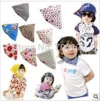 Free shipping 50pcs Baby Bibs,30 design mixed boys/girls cotton bibs, fashion baby scarves