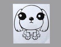 Mini DIY Style PVC Glass Switch Decal Sticker (Black).Mini Dog design Stickers.wall stick.Glass Stickers.free shipping