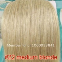 hot sell on ebay 22 inch 100g clip in on real human hair extensions #22 medium blonde free shipping