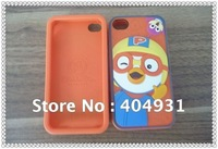 100% soft 3D silicone casings for iphone 4S with Korean Style