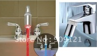 Glow Light Water Powered 3 Color LED Detectable Bathtub Toilet Sink Faucet Parts