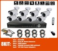 cctv system 8ch dvr kits + H.264 DVR +waterproof Cameras Sony  420TVL + 3G Mobile remote viewing