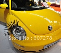 Hot seller 2pcs is 1pair charming auto eyelash car decal wholesale and detail free shipping discount promotion TOP-CA001