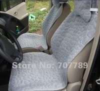 2012 new style quilted cotton car seat covers supports 8pcs stone grey  free shipping