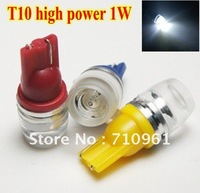 Free shipping wholesales 10pcs/lot Car wide led light White T10 194 168 high power Car LED light Bulbs 1W high power Led Bulb