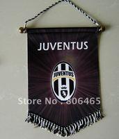 Black Juvenus soccer fans flag,polyester 43*33CM soccer flag,banners,football flag,pennants,100pcs