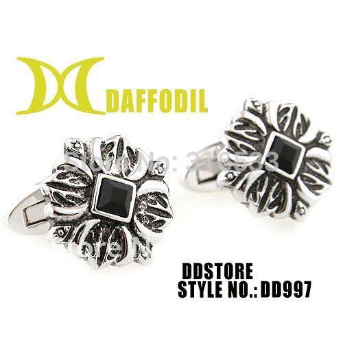 Metal cuff links Fashion cufflink Mens cufflink Daffodil wholesale french cuff button novelty cuff link elegant cufflinks DD997(China (Mainland))