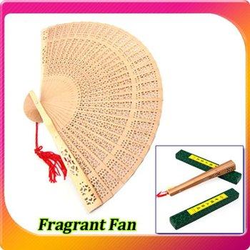 Free shipping Fragrant Sandalwood Hand Fan chinese fan folding fan for Wedding Party Business Gift