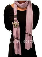 Fashion sacrf +12pcs/lot Necklace Pendant soft cotton Scarf NEW BOHO style mix color