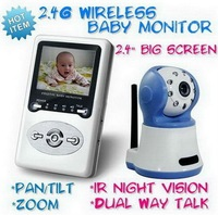 2.4 Inch TFT LCD Wireless Baby Monitors Two-way Speak Receiver Night Vision W386D1 from amay86