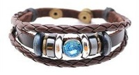 Jewelry supplier personalized womens charm  braided leather cuff bracelets