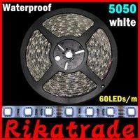 DHL Free shipping 50m/lot 16.4FT 5050 SMD  60led/m waterproof LED strip light,decoration light strip,led bar light
