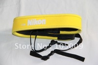 full yellow Neoprene Neck Strap for Nikon D300 D700 D90 d300 DSLR