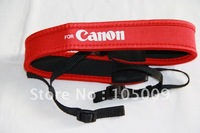 camera full red Neoprene Neck Strap for Canon 50D 40D 30D 5D 450D 60D 600D 7D