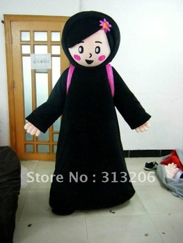 2012 girl mascot cartoon costume for kids party