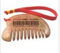 Acupuncture Dan Baojian comb, yellow free shipping, hand polished
