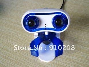 Free shipping,  Cute design 3D WEBCAM CMOS sensor 3D live video  web camera , send 3D glasses and 3D software