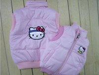 Wholesale 5 pieces 100% cotton Hot hello kitty Children vest (5pcs/lot)  Children's clothing