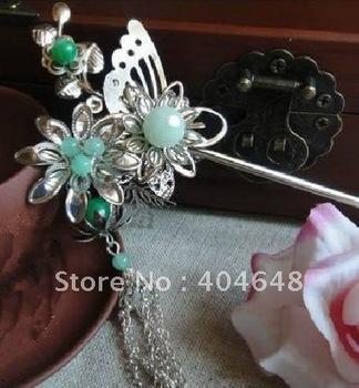 Ling Bo music / original handmade classical double hairpin hairpin Han costume jewelry head long Su Buyao