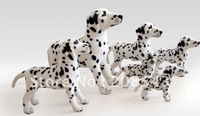 Free shipping !  MOQ: 1PC, stand-up dalmation display dog , dog model for shop, 2 sizes