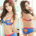 2012 New design push up bra panty set  ladies superman style underwear set 8869