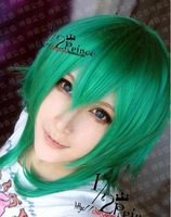FOB price~Vocaloid.Gumi.J434.short green culy anime cosplay wig,Cos Wig+free shipping