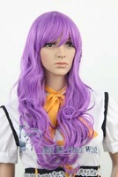 FOB price WHOLESALES~Card Captor Sakura.Daidouji Tomoyo.J289.Purple Culy Long Cosplay Anime Wig