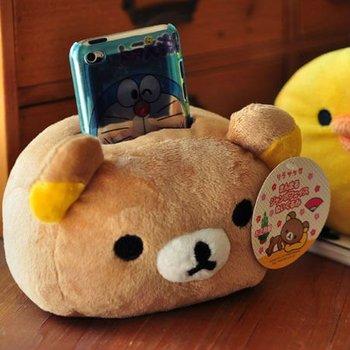 Free Shipping/New Cute cartoon Plush Rilakkuma mobile phone Holder Wholesale Remote control holder Gift 8952