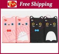 Free shipping cost korea Cute cat design housing for iphone 4s housing 30pcs/lot