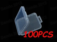100pcs/lot,High-Quality Compact Flash CF MS SD SDHC Memory Card Plastic Storage Box Holder Case