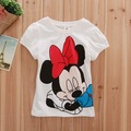 5 pieces in 1 lot  FREE SHIPPING M1222 New arrivel Mickey Conton kids children T Shirt short sleeves girls tops clothing clothes