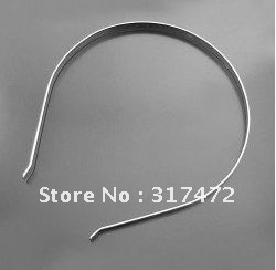 Freeshipping!!! Bulk 100pcs/lot 3mm Silver Plated  Hair Band Head Bow  Jewely findings accessories