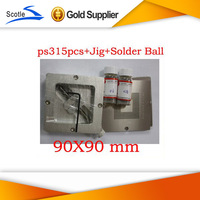 Freeshipping for Ps3 Bga Reball Kit s15pcs Stencil 90mm+1 set Scotle ht-90+2 bottles 25K Leaded Solder Ball 0.6mm 0.76mm