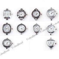 Wholesale - 10pcs Bulk Mixed Assorted Silver Tone Quartz Watch Face Fit Watch Accessories DIY 151648