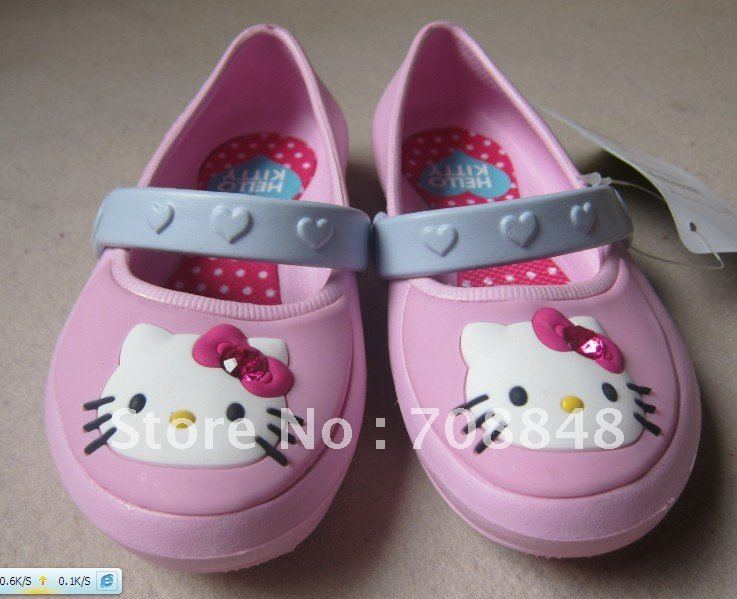 Htllo Kitty  Sandal Slippers  * Add send 2 PC shoes flowers*