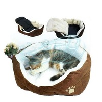 Wholesale 45*40cm Comfortable Lovely Style Footprints Design Soft Cotton Warm Pet Nest Dog Cat Bed