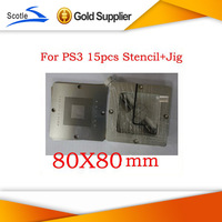 BGA Reballing Kits 15pcs 80*80 BGA Stencil for Ps3+BGA Reballing Jig